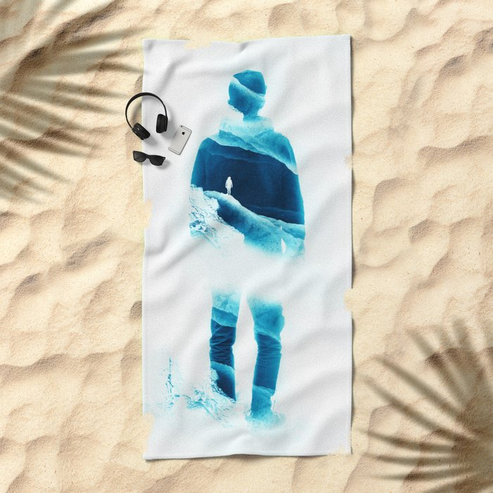 Love Isolation in Teal Beach Towel