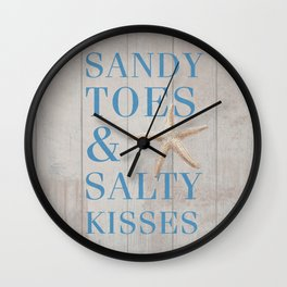 Sandy Toes and Salty Kisses Wall Clock