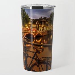AMSTERDAM Evening impression from Brouwersgracht Travel Mug