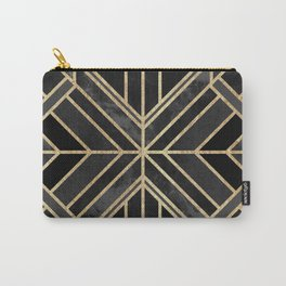 Geo Black Marble Dream Carry-All Pouch