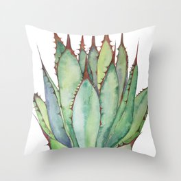 Sword Agave Throw Pillow