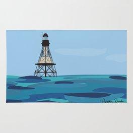 Fowey Rocks Lighthouse Rug