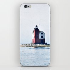 Round Island Lighthouse iPhone & iPod Skin
