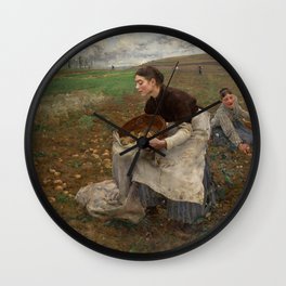 Jules Bastien Lepage - October, 1878 Wall Clock