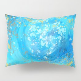 Blue Abstract Space Swirl  Pillow Sham