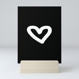 Heart Black Mini Art Print