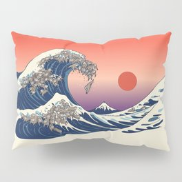 The Great Wave of Sloth Pillow Sham