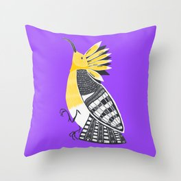 The Hoopoe Throw Pillow