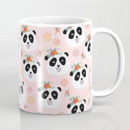 Panda bear with flowers seamless pattern Coffee Mug