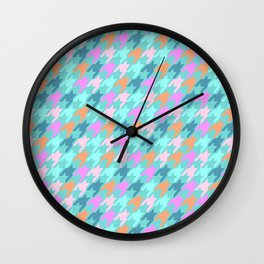 Playfull Houndstooth Wall Clock