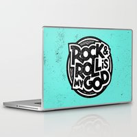 rock and roll Laptop & iPad Skins featuring Rock & Roll God by Josh LaFayette