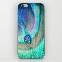 peacock iPhone & iPod Skins featuring Peacock by Marianne LoMonaco
