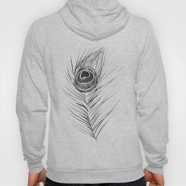 Peacock Feather – Black Palette Hoody