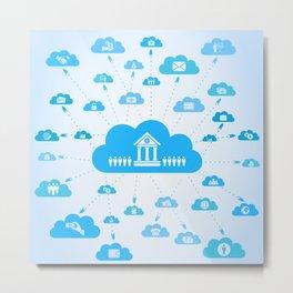 Business a cloud Metal Print