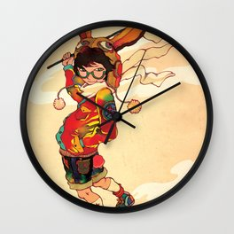 The land of the rising zine Wall Clock