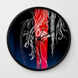 Delicate-Red Wall Clock