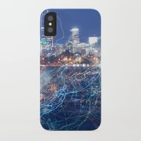minneapolis iPhone & iPod Cases featuring Minneapolis Neon by Andrew C. Kurcan