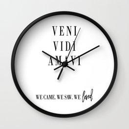 VENI VIDI AMAVI, Latin Poster, Latin Quote, Home Decor, Gift for Girlfriend Wall Clock