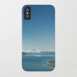 Blue & snowy landscape iPhone Case