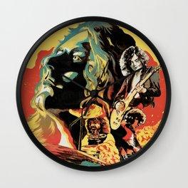 Zeppelin on Fire Wall Clock