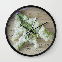Love letter with lily of the valley Wall Clock