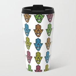 Watercolor - HAMSA HAND Travel Mug