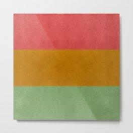 """""""Spring pastel horizontal lines"""" Metal Print"""