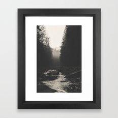 Morning river Framed Art Print