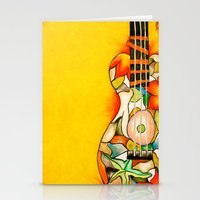 guitar Stationery Cards featuring Guitar  by Alexa Brooke Rutledge