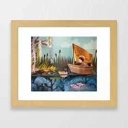 Pond Adventure Framed Art Print