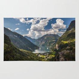 Geiranger Fjord Norway Mountains Rug