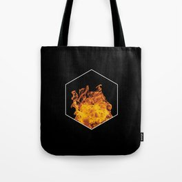 Fire hexagon abstract - Fire sign - The Five Elements Tote Bag