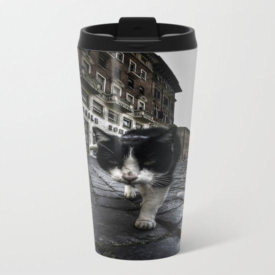Street Cat Metal Travel Mug