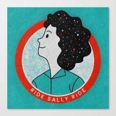 Ride Sally Ride Canvas Print