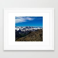 john snow Framed Art Prints featuring Snow Caps by John Monastero