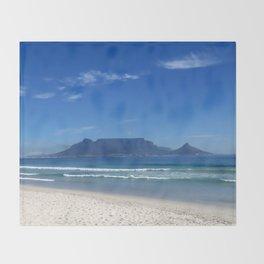 Table Mountain Cape Town Throw Blanket