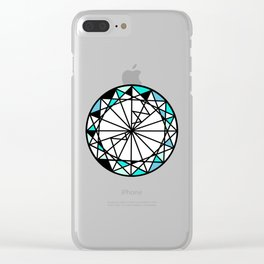 Sapphire blue diamond - circle Clear iPhone Case