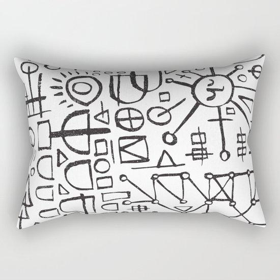 ALIEN WRITING Rectangular Pillow