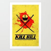 kill bill Art Prints featuring Kill Bill by WeEatDesign