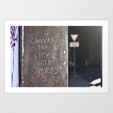 Canvas the City with Smiles Art Print