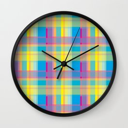 Plaid_Series 4 Wall Clock