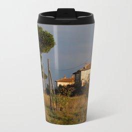Sunny countryside in Italy Metal Travel Mug