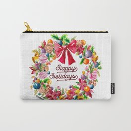 Christmas Wreath Painting Illustration Design Carry-All Pouch