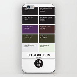 PANTONE glossary - Iceland - Seljalandsfoss iPhone Skin