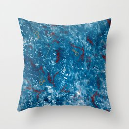 Floating on Bubble Wrap Throw Pillow