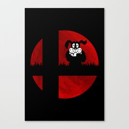 Smash and Laugh (red) Canvas Print