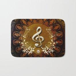 Music, wonderful decorative clef Bath Mat