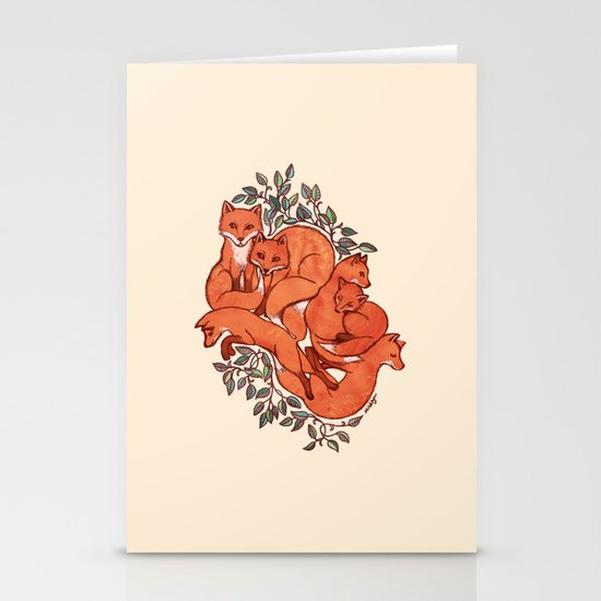 Fox Tangle Stationery Cards