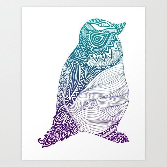 Duotone Penguin Art Print