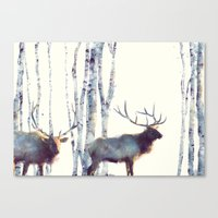 elk Canvas Prints featuring Elk // Follow by Amy Hamilton